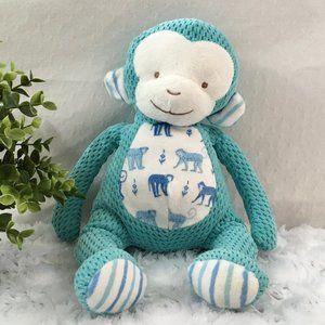 Bunnies by the Bay | Blue Stuffed Monkey Plush